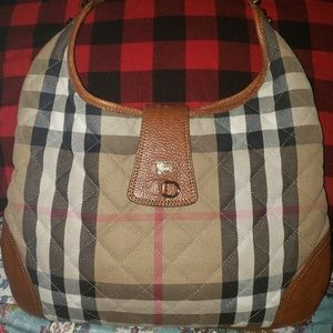 Burberry House Check Quilted Manor Hobo Bag
